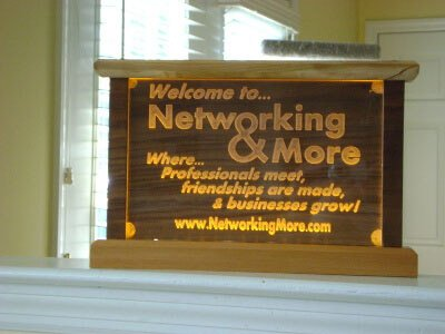 LED Sign Yellow Networking Professional Maple Mahogany Light Lighted Lighting Advertising Advertise