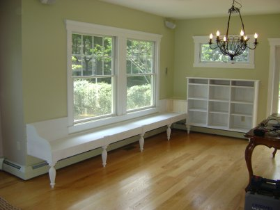 Window Seat Storage Cushions Family Room Kitchen Children Table