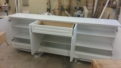 TV Cabinet Cabinets Entertainment White Paint Drawer Drawers Storage Adjustable Shelf Shelves